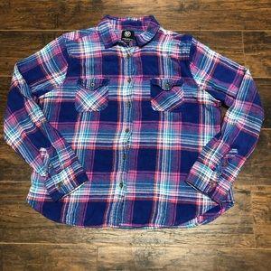 AEO Purple Favorite Fit Button Down Long Sleeve XL